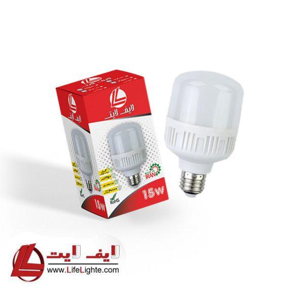 لامپ حبابی 15w لایف لایت