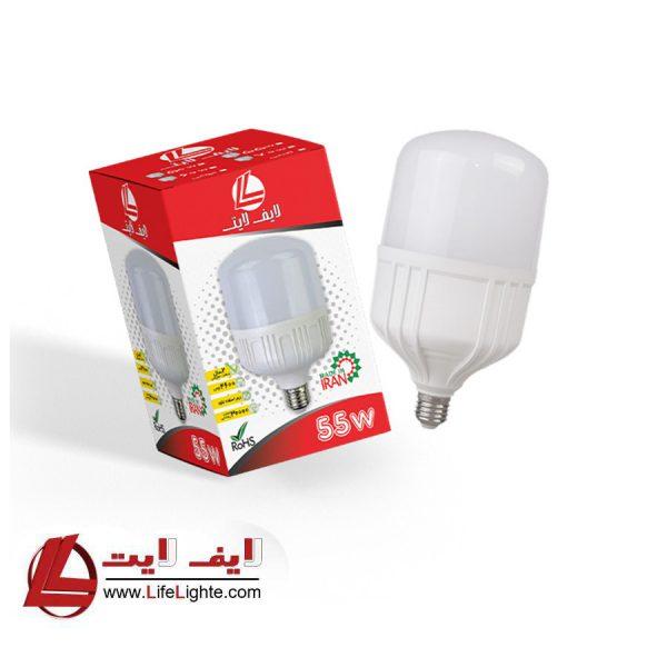 لامپ حبابی 55w لایف لایت